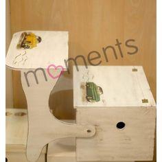 Ξυλινο κουτι βαπτισης παγκακι - θρανιο με vintage αυτοκινητα σε decoupage cd71a4d88c9