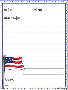 Write a letter to a soldier template