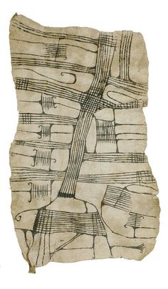 Africa | Mbuti barkcloth.  Ituri Forest, Democratic Republic of Congo