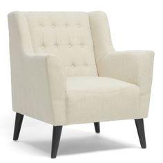 Baxton-Studio-Berwick-Beige-Linen-Arm-Chair