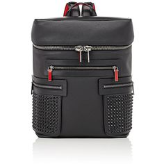 Christian Louboutin Men's Apoloubi Backpack ($2,150) ❤ liked on Polyvore featuring men's fashion, men's bags, men's backpacks, black, mens backpacks and mens leather backpack
