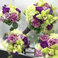Bridal package, orchids, roses and hydrangeas
