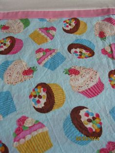 Single Pillow Case  Handmade  pastel cupcakes by DittoDitterline, $15.00