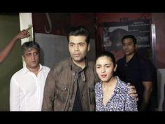Alia Bhatt & Varun Dhawan at the screening of Badrinath Ki Dulhania movie.