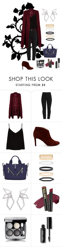 """Wine and geometry"" by kykina-elena ❤ liked on Polyvore featuring WithChic, Raey, Sole Society, Kenzo, Accessorize, W. Britt, L.A. Girl, Chanel and Bobbi Brown Cosmetics"
