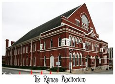 Visit the Sacred of the Sacred.....The Ryman.