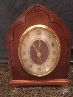 #antique RARE VINTAGE REVERE WESTMINSTER CHIME SHELF CLOCK ELECTRIC 1950s As Is please retweet