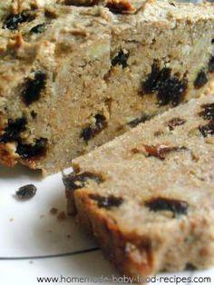 Sugar Free Banana Cake Baby Food Recipe - Blueberry & Banana Cake