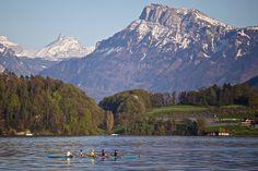 Rowing on Lake Lucerne