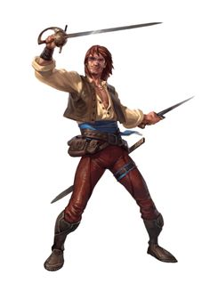 Male Human Ranger Rogue - Pathfinder PFRPG DND D&D 3.5 5th ed d20 fantasy