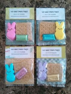 Here's my version of the S'mores Peeps treat bags that we made on 3/28/13:  We Need S'more Peeps - Like us on Facebook!  www.Facebook.com/TraditionsApartments