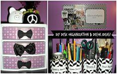 unique girly desk organization - Google Search