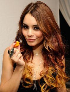 Vanessa Hudgens 2014 | Vanessa Hudgens' Long Hairstyles: Ombre Wavy Hair Style /Source ...