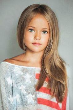 Beautiful natural little girl