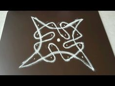 Simple Sikku kolam with 4 Dots - YouTube