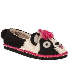 Women's Black & White Tigerbear Republik Beastie Pandarama   SCHUH Cute Casual Shoes, Shoe Shop, Kid Shoes, Slippers, Footwear, Man Shop, Black And White, Boots, Fashion