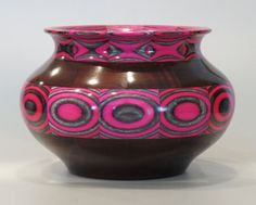 Decorative Pink SpectraPly wood bowl
