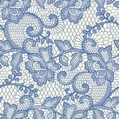 Blue koronki bezszwowe wzór. stockowa ilustracja wektorowa royalty-free
