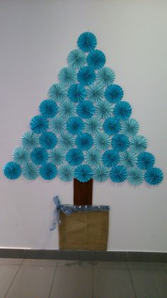 Árbol navidad fácil. Azul