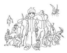 desenhos de colorir online: Ben 10
