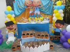 Upin ipin party by birthday castle theme birthday parties here is on example of free printable baby shower invitation ideas for kids in upin and ipin theme stopboris Choice Image