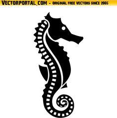 Seahorse Vector Clip Art by Vectorportal.deviantart.com on @DeviantArt