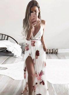 Floral Slip Sleeveless Maxi A-line Dress