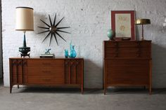 Mid century modern teak drop leaf folding table with