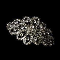 Ribbon Corsage Crystal Wedding Bridal Barrette - Special Occasion, Prom, Party ** Read more  at the image link.