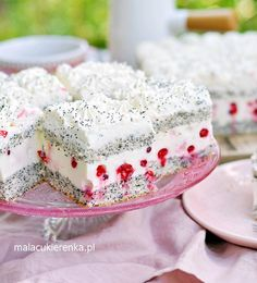 Ciasto Maczek Porzeczkowy No Bake Desserts, Delicious Desserts, Yummy Food, Baking Recipes, Cake Recipes, Dessert Recipes, Caking It Up, Fashion Cakes, Polish Recipes