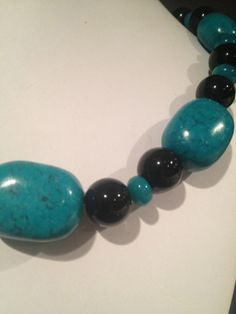The stunning contrast of bold turquoise with by NeckArtbyHelen, $38.50