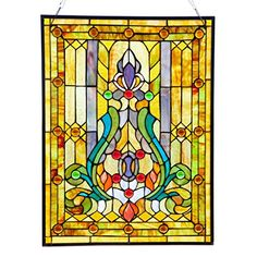 Stained glass home decor is elegant, trendy and timeless.  As evidence of this just look around you.  Many beautiful homes use a combination of stained glass wall decor, stained glass wall hangings and stained glass accent lights to create a vibe that is the epitome of beautiful, relaxing and inviting.    River of Goods 8225 25