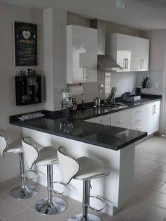 Kitchen Room Design, Kitchen Cabinet Design, Modern Kitchen Design, Home Decor Kitchen, Interior Design Kitchen, Modern Kitchens, Small Kitchens, Kitchen Ideas, Kitchen Modular