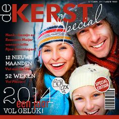 Kerstkaart in magazine vorm met ruimte voor eigen #foto  #kerstkaarten #feestdagen | goededoelkerstkaarten.nl