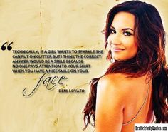Smile On Your Face - Demi Lovato #Quote