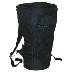 """Heavy Duty Djembe Bag, Water Resistant - Large by X8 Drums. $46.99. Heavy-duty djembe bag by X8 Drums, these padded and lined bags are made from durable, water resistant material and are offered at a great price because we import them directly for you! Each bag has extra thick padding to protect your instrument for storage or when transporting to gigs.  BAG SIZE: L, 20"""" tall and 12"""" top diameter (typically fits djembes with 9""""-10"""" heads)"""