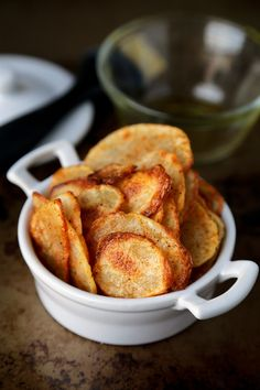 Baked potato chips with paprika and salt   Pickled Plum.