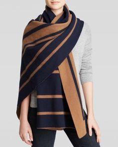 Vince Blanket Scarf - Cashmere Stripe