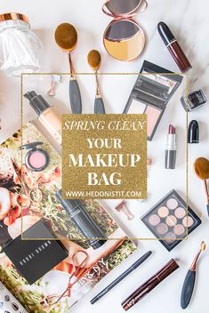 it's time for spring cleaning and your makeup collection shouldn't be left behind! this is how to clean and prep your makeup stash for spring :)