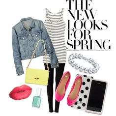 Spring Casual. I love the randomness with this outfit