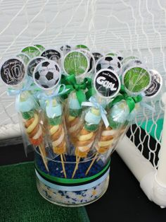 Football Birthday Party treats!  See more party ideas at CatchMyParty.com!