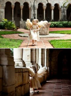 The flowergirl wanted to wear angel wings to the wedding so wings it is... And wow, are these wings!