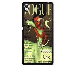 Tiana Disney Vogue Magazine TATUM-11218 Sony Phonecase Cover For Xperia Z1, Xperia Z2, Xperia Z3, Xperia Z4, Xperia Z5