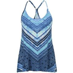 maurices Patterned Swing Tank In Blue