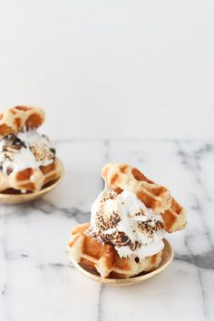 waffle marshmallow sandwich. #designs #yummy #delicious #style #veggies #love #eat #drink