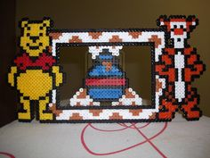 Winnie the Pooh and Tiger photo frame fuse beads by capricornc5 on deviantart