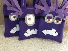 Despicable Me Funny purple minions Party favor Set of 6 bags on Etsy, $21.00