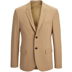 Joseph Techno Wool Stretch Reading Jacket in CAMEL ($810) ❤ liked on Polyvore featuring men's fashion, men's clothing, men's outerwear, men's jackets, camel, mens wool jacket, mens slim jacket, mens blazer jacket, mens slim fit jacket and mens wool outerwear