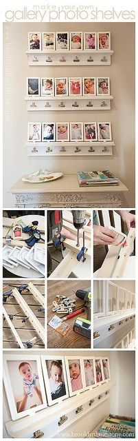 DIY Photo message center by MrsLimestone, via Flickr