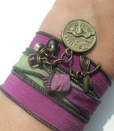 Pick Your Sign Zodiac Silk Wrap Bracelet by BohemianEarthDesigns, $24.95